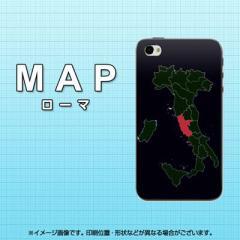 iPhone4sケース・iPhone4ケース  スマホケース【682 MAP ローマ(素材クリア)】 UV印刷