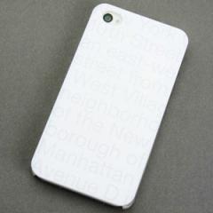 iPhone4sケース・iPhone4ケース 特殊印刷 スマホケース【537 new-york-wh(クリア)】 UV印刷