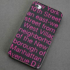iPhone4sケース・iPhone4ケース 特殊印刷 スマホケース【539 new-york-pk(クリア)】 UV印刷