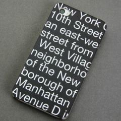 iPhone4sケース・iPhone4ケース 特殊印刷 スマホケース【540 new-york-bk(クリア)】 UV印刷
