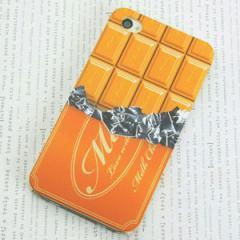iPhone4sケース・iPhone4ケース 特殊印刷 スマホケース【556 板チョコ-メロン(クリア)】 UV印刷