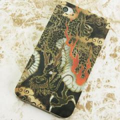 iPhone4sケース・iPhone4ケース 特殊印刷 スマホケース【558 いかずちを纏う龍(クリア)】 UV印刷