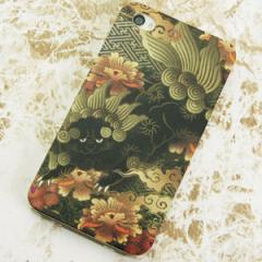 iPhone4sケース・iPhone4ケース 特殊印刷 スマホケース【559 光臨される獅子(クリア)】 UV印刷