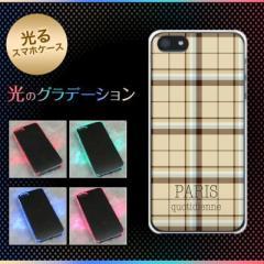 【訳あり 50%OFF】iPhone5 / iPhone5s 共用 ケース (docomo/au/SoftBank) 光るスマホケース【548 PARISチェック】(アイフォン5/ケース/カ
