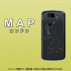 au AQUOS PHONE SL IS15SH ケース / カバー『684 MAP ロンドン/素材クリア』 UV印刷 両面カバー/