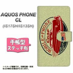 AQUOS PHONE CL IS17SH / IS13SH 共用 手帳型 スマホケース ステッチタイプ YK809 アメリカンビンテージ メール便送料無料