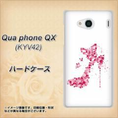 Qua phone QX KYV42 ハードケース / カバー【387 薔薇のハイヒール 素材クリア】(キュアフォン QX KYV42/KYV42用)