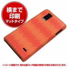Optimus G LGL21/L-01E ハードケース【横まで印刷 769 オレンジパターン マット調】(オプティマスG/L01E/LGL21用)