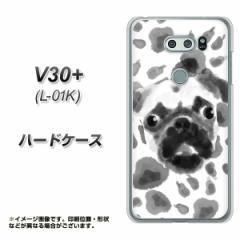 V30+ L-01K ハードケース / カバー【YJ047 パグ6  素材クリア】(V30プラス L-01K/L01K用)