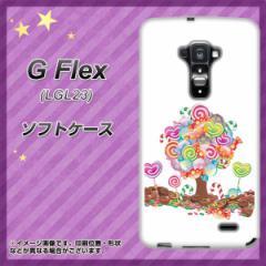 au G Flex LGL23 TPU ソフトケース / やわらかカバー【381 デコツリー 素材ホワイト】 UV印刷 (Gフレックス/LGL23用)