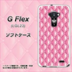 au G Flex LGL23 TPU ソフトケース / やわらかカバー【632 キルトピンク 素材ホワイト】 UV印刷 (Gフレックス/LGL23用)