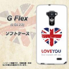 au G Flex LGL23 TPU ソフトケース / やわらかカバー【SC803 ユニオンジャック ハートビンテージ 素材ホワイト】 UV印刷 (Gフレックス/L