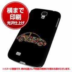 docomo Galaxy S4 SC-04E ハードケース【まるっと印刷 1196 カラフルCAR 光沢仕上げ】横まで印刷(ギャラクシー S4/SC04