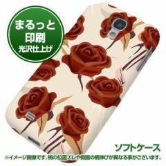 docomo Galaxy S4 SC-04E【TPUまるっと印刷 1156 クラシックローズ(大) 光沢仕上げ】ソフトケース 横まで印刷(ギャラクシー S4/SC04E用)