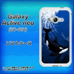 Galaxy Active neo SC-01H TPU ソフトケース / やわらかカバー【423 シャチ 素材ホワイト】 UV印刷 (ギャラクシーアクティブネオ SC-01H