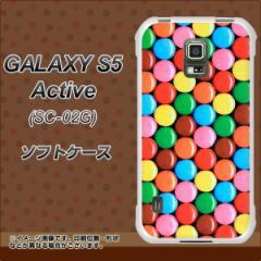 docomo GALAXY S5 Active SC-02G TPU ソフトケース / やわらかカバー【448 マーブルチョコ 素材ホワイト】 UV印刷 (ギャラクシーS5 アク