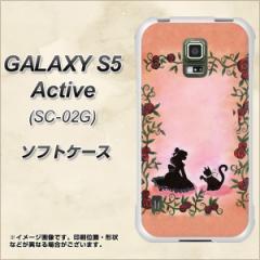 docomo GALAXY S5 Active SC-02G TPU ソフトケース / やわらかカバー【1096 お姫様とネコ(カラー) 素材ホワイト】 UV印刷 (ギャラクシー