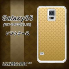 GALAXY S5 SC-04F / SCL23 TPU ソフトケース / やわらかカバー【638 金屏風 素材ホワイト】 UV印刷 (ギャラクシー エス ファイブ/SC04F