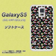 GALAXY S5 SC-04F / SCL23 TPU ソフトケース / やわらかカバー【778 マイクロリバティプリントBK 素材ホワイト】 UV印刷 (ギャラクシー