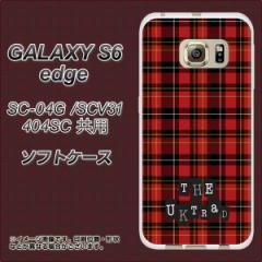 GALAXY S6 edge SC-04G / SCV31 / 404SC TPU ソフトケース / やわらかカバー【547 THEチェック 素材ホワイト】 UV印刷 (ギャラクシーS6