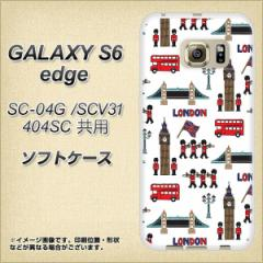 GALAXY S6 edge SC-04G / SCV31 / 404SC TPU ソフトケース / やわらかカバー【EK811 ロンドンの街 素材ホワイト】 UV印刷 (ギャラクシー