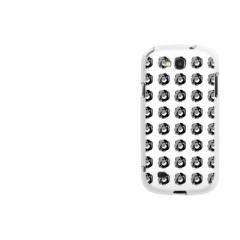 au GALAXY S3 Progre SCL21 TPU ソフトケース / やわらかカバー【786 ドット柄BKローズWH 素材ホワイト】 UV印刷 (ギャラクシーS3 Progr