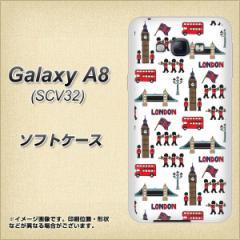 Galaxy A8 SCV32 TPU ソフトケース / やわらかカバー【EK811 ロンドンの街 素材ホワイト】 UV印刷 (ギャラクシー エーエイト SCV32/SCV3