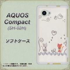 AQUOS Compact SH-02H TPU ソフトケース / やわらかカバー【1103 クラフト写真 ネコ (ワイヤー1) 素材ホワイト】 UV印刷 (アクオスコン