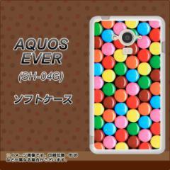 docomo AQUOS EVER SH-04G TPU ソフトケース / やわらかカバー【448 マーブルチョコ 素材ホワイト】 UV印刷 (アクオス エバー/SH04G用)