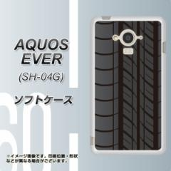 docomo AQUOS EVER SH-04G TPU ソフトケース / やわらかカバー【IB931 タイヤ 素材ホワイト】 UV印刷 (アクオス エバー/SH04G用)