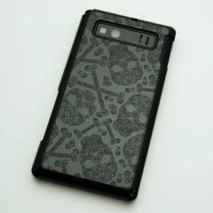 AQUOS PHONE SHL21 ケース 凸凹 スマホケース【363 ドクロの刺青(ブラック)】(アクオスフォン/SHL21)