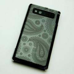 AQUOS PHONE SHL21 ケース 凸凹 スマホケース【421 ペイズリー(クリア)】(アクオスフォン/SHL21)