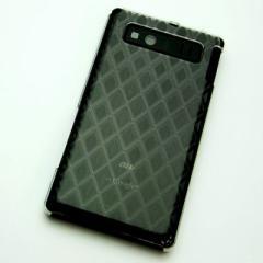 AQUOS PHONE SHL21 ケース 凸凹 スマホケース【488 菱(クリア)】(アクオスフォン/SHL21)