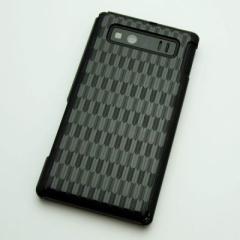 AQUOS PHONE SHL21 ケース 凸凹 スマホケース【489 矢がすり(ブラック)】(アクオスフォン/SHL21)