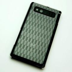 AQUOS PHONE SHL21 ケース 凸凹 スマホケース【489 矢がすり(クリア)】(アクオスフォン/SHL21)