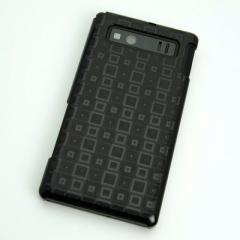 AQUOS PHONE SHL21 ケース 凸凹 スマホケース【493 角千鳥(ブラック)】(アクオスフォン/SHL21)
