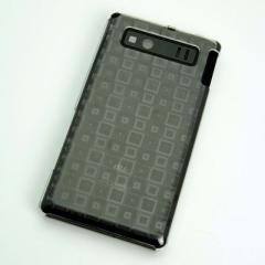 AQUOS PHONE SHL21 ケース 凸凹 スマホケース【493 角千鳥(クリア)】(アクオスフォン/SHL21)