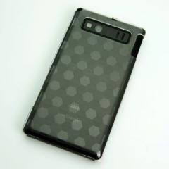 AQUOS PHONE SHL21 ケース 凸凹 スマホケース【685 亀甲(クリア)】(アクオスフォン/SHL21)