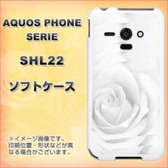 au AQUOS PHONE SERIE SHL22 TPU ソフトケース / やわらかカバー【402 ホワイトRose 素材ホワイト】 UV印刷 (アクオスフォンSERIE/S