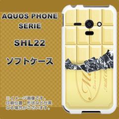 au AQUOS PHONE SERIE SHL22 TPU ソフトケース / やわらかカバー【553 板チョコ-ホワイト 素材ホワイト】 UV印刷 (アクオスフォンSERIE/