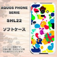 au AQUOS PHONE SERIE SHL22 TPU ソフトケース / やわらかカバー【1329 ペイントドット ランダム 素材ホワイト】 UV印刷 (アクオスフォ