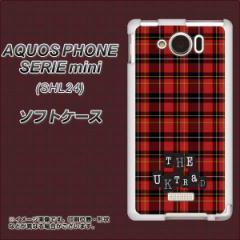 au AQUOS PHONE SERIE mini SHL24 TPU ソフトケース / やわらかカバー【547 THEチェック 素材ホワイト】 UV印刷 (アクオスフォンSERIE m