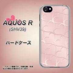 AQUOS R SHV39 ハードケース / カバー【1340 かくれハート 桜色 素材クリア】(アクオスR SHV39/SHV39用)