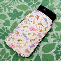 本革(レザー) スマートフォンケース【134a Harry up !横】 【Lサイズ】iPhone5/ARROWS Kiss F-03E/MEDIAS U N-02E 等汎用