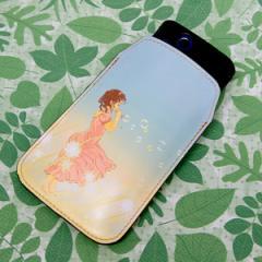 本革(レザー) スマートフォンケース【465 しゃぼん玉】 【Lサイズ】iPhone5/ARROWS Kiss F-03E/MEDIAS U N-02E 等汎用