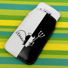 本革(レザー)スマートフォンケース【027 ハーフデビット】【Lロング】Xperia A/ELUGA P/Optimus it/Disney mobile/PANTONE 6/ASCEND/AR