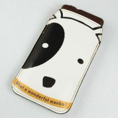 本革 スマートフォンケース デザイナーVer.【IA800 わんこ】 【LLロング】 Ascend D2/MEDIAS X/Galaxy S4/AQUOS PHONE ZETA/MEDIAS X/Xp