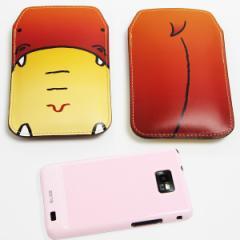 本革(レザー) スマートフォンケース【351 かば】 【Lサイズ】iPhone5/ARROWS Kiss F-03E/MEDIAS U N-02E 等汎用