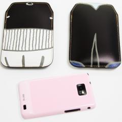 本革(レザー) スマートフォンケース【355 くじら】 【Lサイズ】iPhone5/ARROWS Kiss F-03E/MEDIAS U N-02E 等汎用