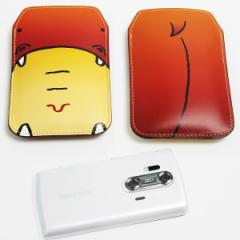 本革(レザー)スマートフォンケース【351 かば】【Lロング】Xperia A/ELUGA P/Optimus it/Disney mobile/PANTONE 6/ASCEND/ARROWS V等